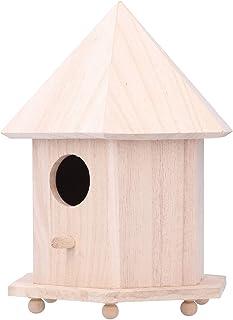 GAOAIHONG Nichoir Oiseaux Exterieur pour Moineaux Nichoir en Bois Mangeoire Décoration Jardin Interieur d'art Et D'artisanat