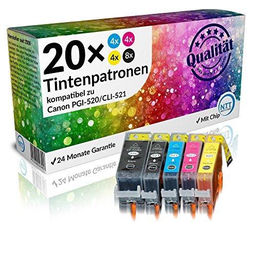 N.T.T.® - 20x Tintenpatronen Druckerpatronen mit Chip