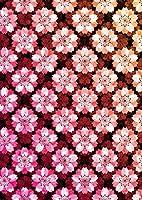 igsticker ポスター ウォールステッカー シール式ステッカー 飾り 841×1189㎜ A0 写真 フォト 壁 インテリア おしゃれ 剥がせる wall sticker poster 005636 チェック・ボーダー 花 フラワー ピンク