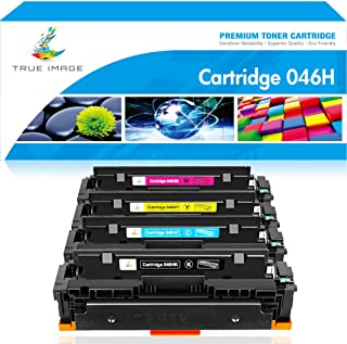 True Image Compatible Toner Cartridge Replacement for CRG-046H Canon 046H Color ImageCLASS MF733Cdw MF731Cdw MF735Cdw LBP654Cdw MF733 Printer Ink (Black Cyan Yellow Magenta, 4-Pack)