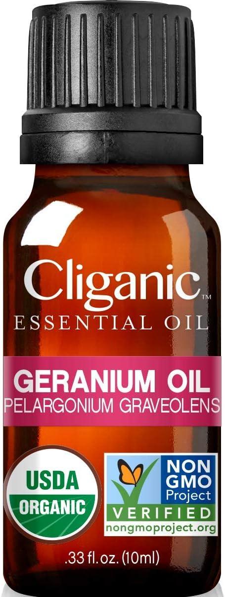 Organic Geranium Essential Oil, 0.33oz