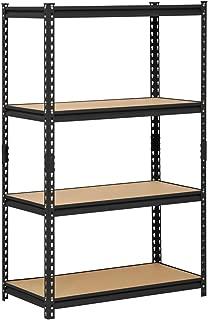 EDSAL Muscle Rack URWM364BLK Black Steel Storage Rack, 4 Adjustable Shelves, 2000 lb. Capacity, 60