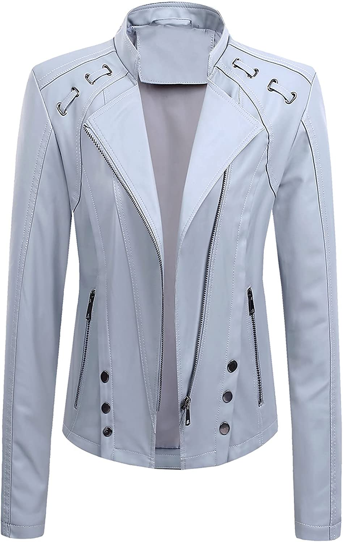 Women's Ranking TOP9 Faux Leather Special sale item Jacket Motorcycle Biker Le Slim