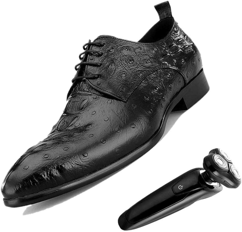 d9331d9c2b404b zmlsc Derby Geprägte Herren-Business-Schuhe Hochzeitsschuhe England  Gentleman Atmungsaktiv Atmungsaktiv Atmungsaktiv Weiches Leder