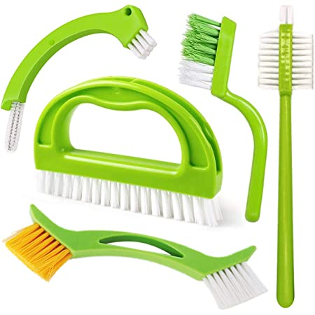 Feizhen Lot de 5 Brosses de nettoyage de joints, pour carrelage, cuisine, salle de bain, fenêtre
