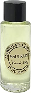 Hawaiian Maui Rain Perfume in Clear Glass Bottle 1/4 oz (0.25 oz) by Edward Bell