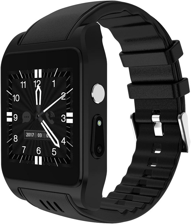 LX7 Smart Watch Blautooth Wasserdicht Fitness Tracker Pulsmesser Schrittzhler Schlaf Monitor SMS Anrufbenachrichtigung Remote Kamera Musik Für Android,schwarz