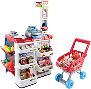 Keezi 24 Piece Kids Super Market Toy Set Colourful design with 24pcs accessories Battery required: 2 x AA (not included) P...