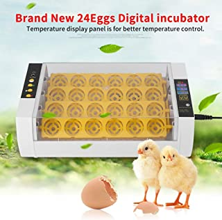 Ejoyous Fully Automatic Intelligent Digital 24 Eggs Incubator with Auto Turning, Temperature & Humidity Control Function, Easy to Observe, Poultry Hatcher with Digital Display for Chickens Ducks