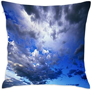 Wbsdfken Wild Blue Yonder Soft Cotton Cushion Case Home Decor Design Throw Pillow Cover for Living Room 18