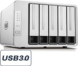 TerraMaster D5-300C USB3.0(5Gbps) Type C 5-Bay RAID Enclosure Support RAID 0/1/Single..