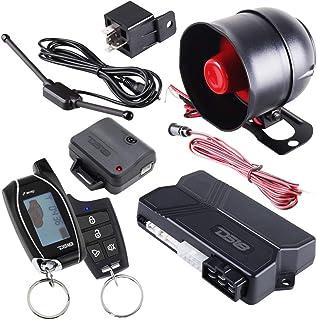 DS18 18START امنیت زنگ هشدار اتومبیل دو طرفه سیستم ورودی بی سیم و سنسور LCD از راه دور سیستم راه اندازی موتور از راه دور اتوماتیک گیرنده w / 2 فرستنده w / 4 دکمه نشانگر وضعیت قفل از راه دور