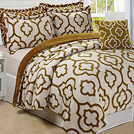 featured product Home Soft Things Jacquard Bedspread & Coverlet Set 90 x 90 Gold