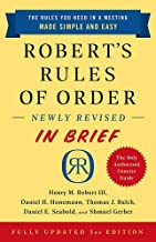 Download Robert's Rules of Order Newly Revised In Brief, 3rd edition PDF