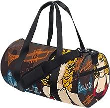 MIFSOIAVV Travel Duffel Bag Woman Singer Red Dress Vector Image Sports Lightweight Canvas Gym Luggage Handbag Overnight Weekend Bag for Men Women