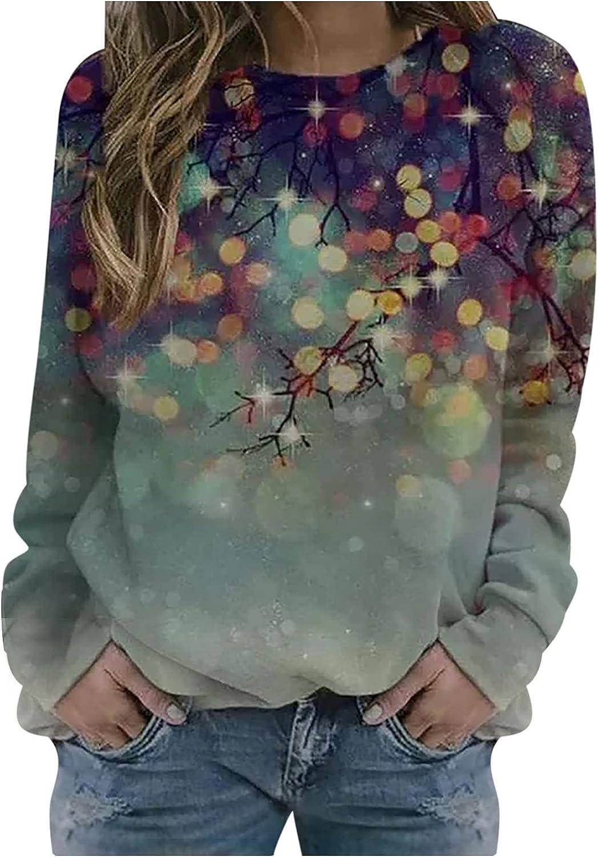Womens Floral Print Crewneck Casual Award Ranking TOP20 Sweatshirt Vintage Fashion