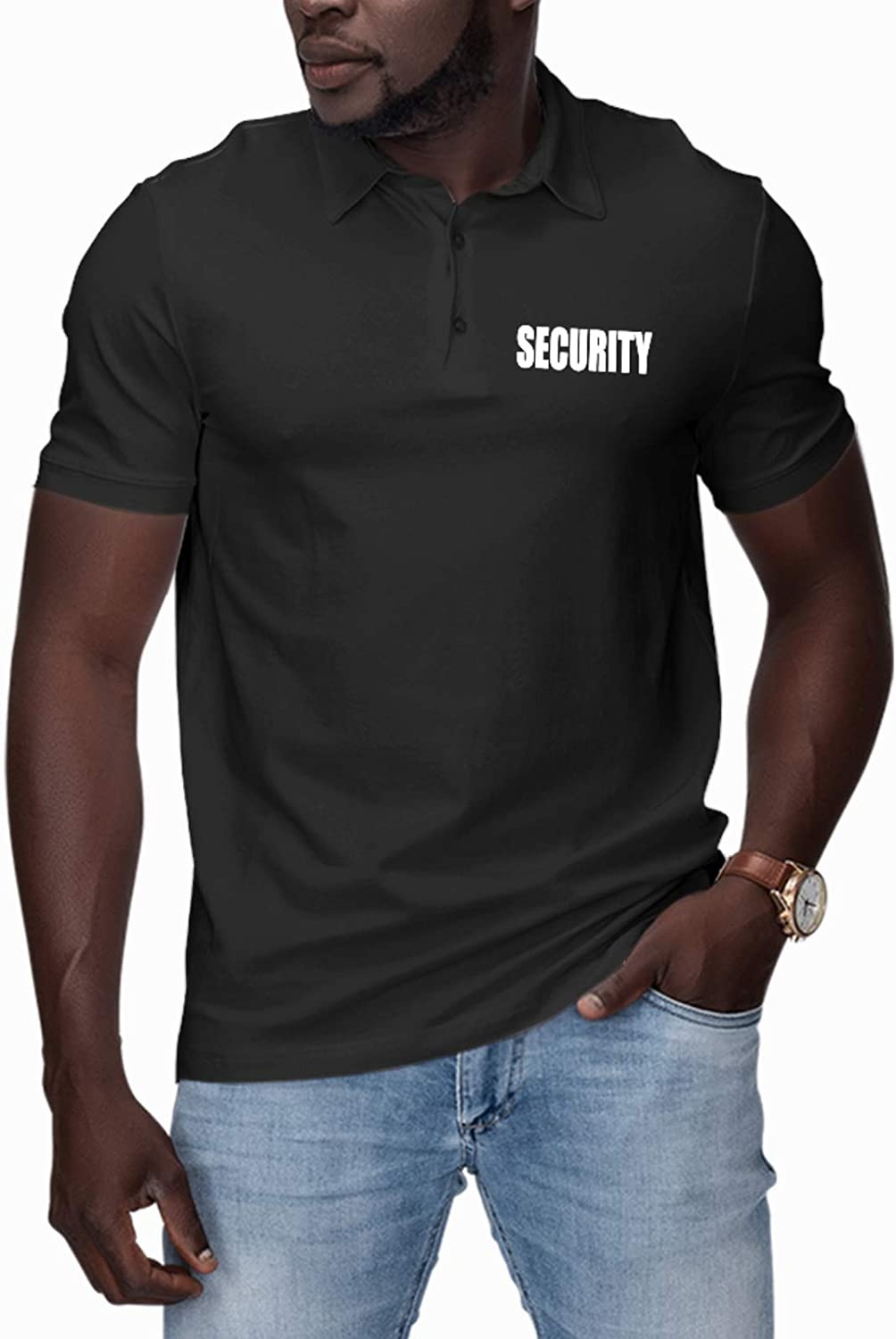 Security Event Safety Guard At the price Front and Print P Men's Fashion Back Premium