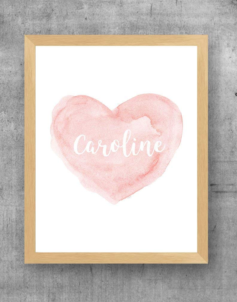 Blush Baby Shower Decoration Heart Na Max 80% OFF Today's only Artwork with Personalized