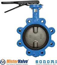 Bonomi N501S Lever operated butterfly valve EPDM seat, lug body St. Steel disc. (4