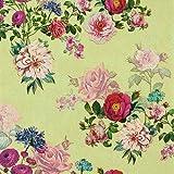 Juego de 20 servilletas vintage con diseño de flores, 33 x 33 cm, color crema