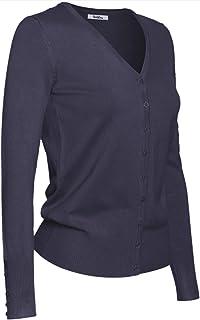 2LUV Plus 女士粗纺背开大码开衫