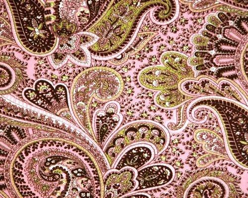 Pink & Brown Paisley Design ~ Edible Cake, Cupcake Topper!!!
