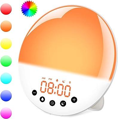 Lampe de Réveil, ZeaLife FM Radio Réveil avec 2 Alarmes