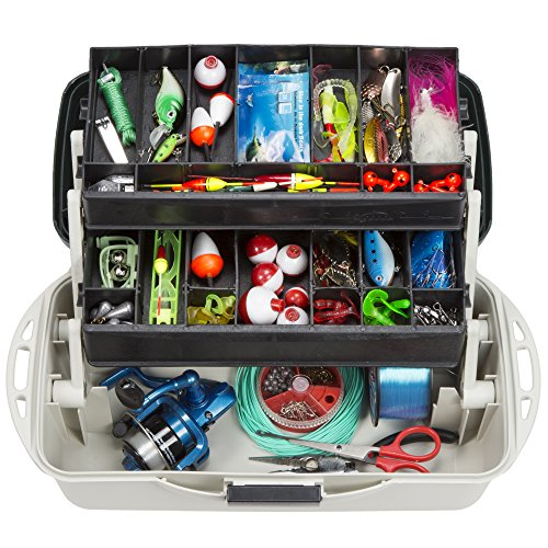 Wakeman Outdoors Fishing Tackle Box Craft Tool Chest and Art Supply Organizer – 14 Inch