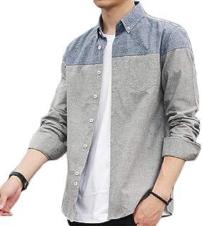 【春 セール】[サンクシャ] 3色展開 長袖シャツ ツートーンカラー シャツ カジュアル シンプル オシャレ メンズ