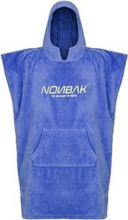 Nonbak Poncho Surf Hombre y Mujer 100% Algodón Rizo Poncho Toalla Deportes Outdoor Actividades Acuáticas Con capucha y Bolsillo Delantero