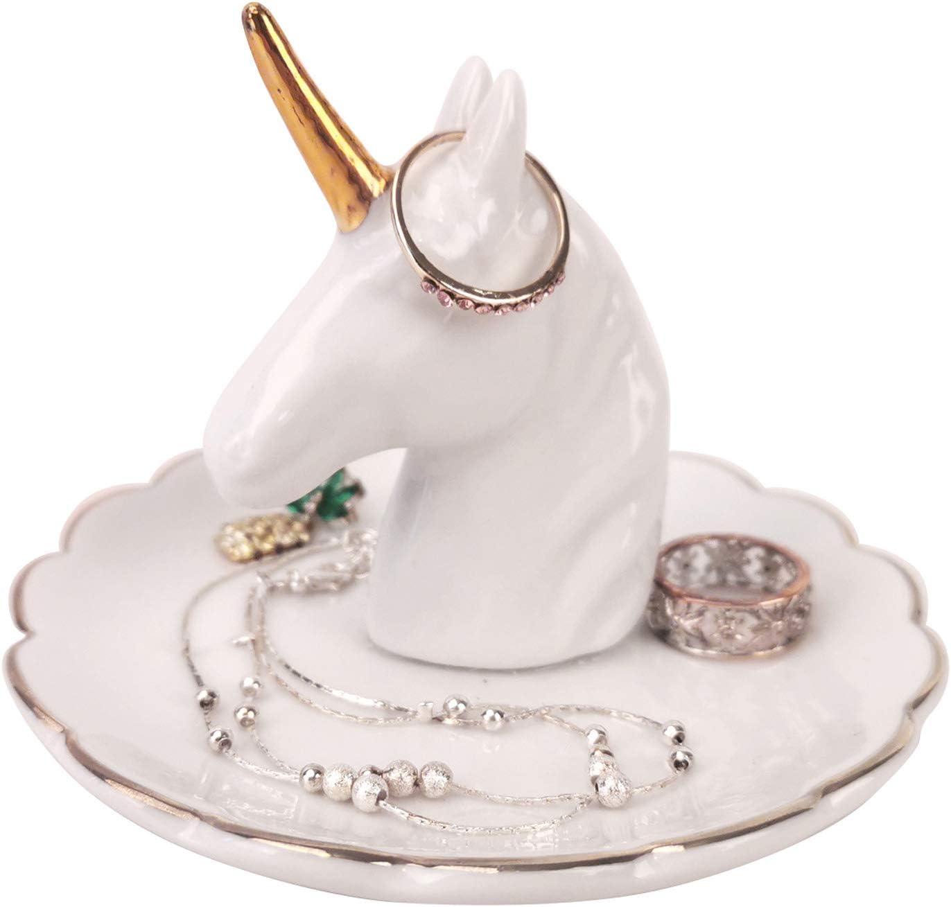 AUTOARK Unicorn Ring Great interest El Paso Mall Holder Desktop Display Tray Jewelry