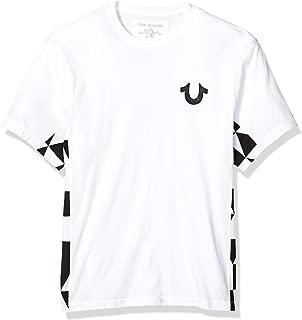 True Religion Men's Side Panel Print TEE, White/Black, XX-Large