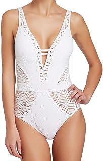 5e6a3db43dff8 Amazon.com: women swimsuit one piece white - Becca by Rebecca Virtue