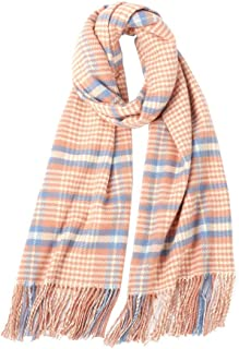 Printed Scarf Lady Flower Plaid Scarf Warm Shawl Winter,Perfect Accent to Any Outfit (Color : 09, Size : 205cm*65cm)