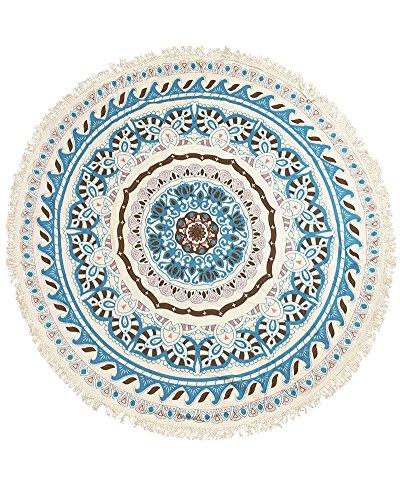 ZiXing Toalla de Playa Redondo Microfibra Tapiz de Pared Indian Mandala Manta de Playa Manta Multi-funcional para Yoga, Gimnasio, Baño, Picnic, Decoración, Viaje