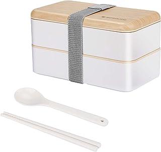 Zwini Boîte Bento 2 étages Boite Repas1200ML Récipient de Nourriture au Lave-Vaisselle Micro-Ondes Boîte à Bento Sécuritai...
