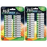 Fuji EnviroMAX Super Alkaline AA + AAA Set - Batterie ecologiche (confezione da 48 24 AA +...