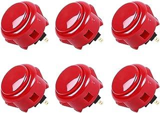 Sanwa 6 pcs OBSF-30 RED (Bright Red) OEM Arcade Push Button (Mad Catz SF4 Tournament Joystick Compatible)