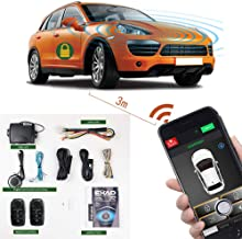 Remote Start for Car Universal Keyless Entry Car Alarm Systems 2-Way Smart Phone PKE Start Stop Central Locking with 2 Remote Controls