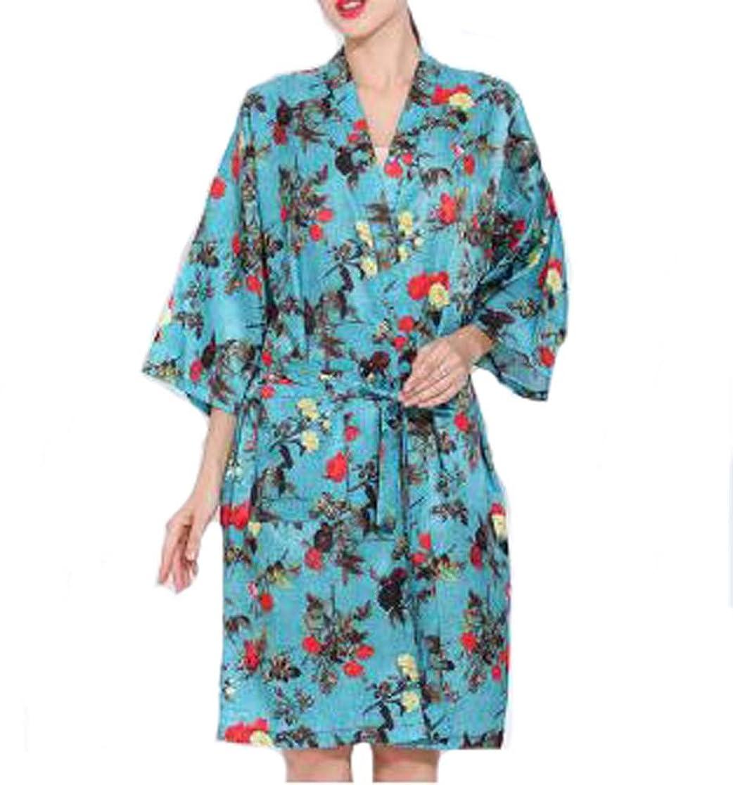 ニッケル軍団虹ヨーロッパスタイルのサロンクライアントガウンローブ、美容院のドレス、青
