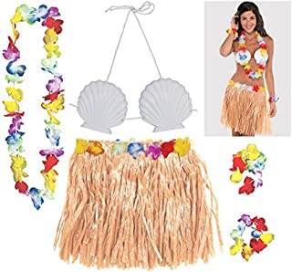 Amscan Accesory Adult Hula Skirt Kit - Beige