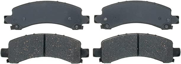 ACDelco 14D974ACH Advantage Ceramic Rear Disc Brake Pad Set with Hardware
