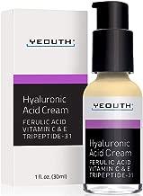 Hyaluronic Acid Cream Face Moisturizer from YEOUTH, Dry Skin, Anti Aging Face Cream, Anti Wrinkle, Pore Minimizer, Even Skin Tone with Vitamin C, Vitamin E, Ferulic Acid, Tripeptide 31