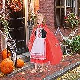 NSSONBEN Disfraz de Caperucita Roja para niña, con abrigo, para Halloween, fiestas de Navidad, Halloween, carnaval, de 4 a 6 años