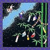 [キステ] 風呂敷 ふろしき 四季彩布 12ヶ月の季節柄 綿100% 50cm 小風呂敷 タペストリー (七夕)
