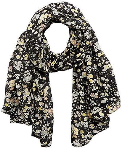 PIECES Damen PCAVONJA Long Scarf Box BC Schal, Black/AOP:SMALL Flowers, ONE Size