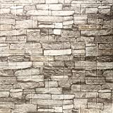 Cozylkx 3D Self Adhesive Foam Wall Panels, 10 Tiles Cover 57 sq feet, Peel and Stick Brick Wallpaper for Living Room Bedroom Wall Decoration