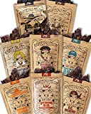 Righteous Felon Beef Jerky Bundle - Variety Beef Jerky Set - All Natural Craft Beef Jerky - High-Protein, Low-Sugar Healthy Snacks Bundle | 8 Count (2oz bags)