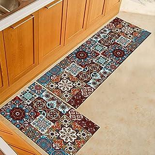 Bohemisk stil kök halkfria golvmattor, badrum absorberande mattor, sovrum och vardagsrum entré dörrmattor NO.5 40 x 120 cm