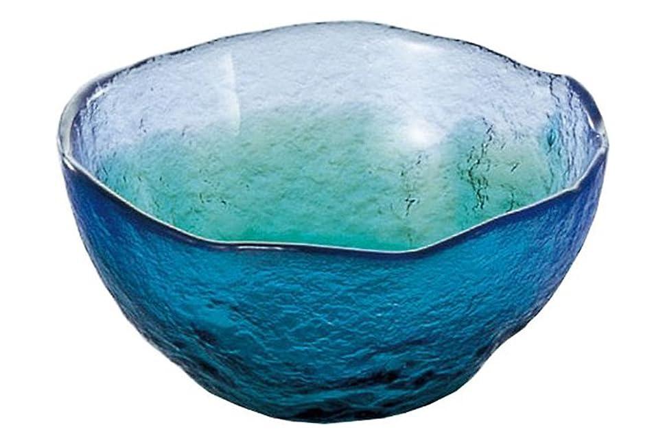 連鎖従来の夜東洋佐々木ガラス 小鉢 ブルー?グリーン 約φ11×5cm 珊瑚の海 中付 日本製 WA3302